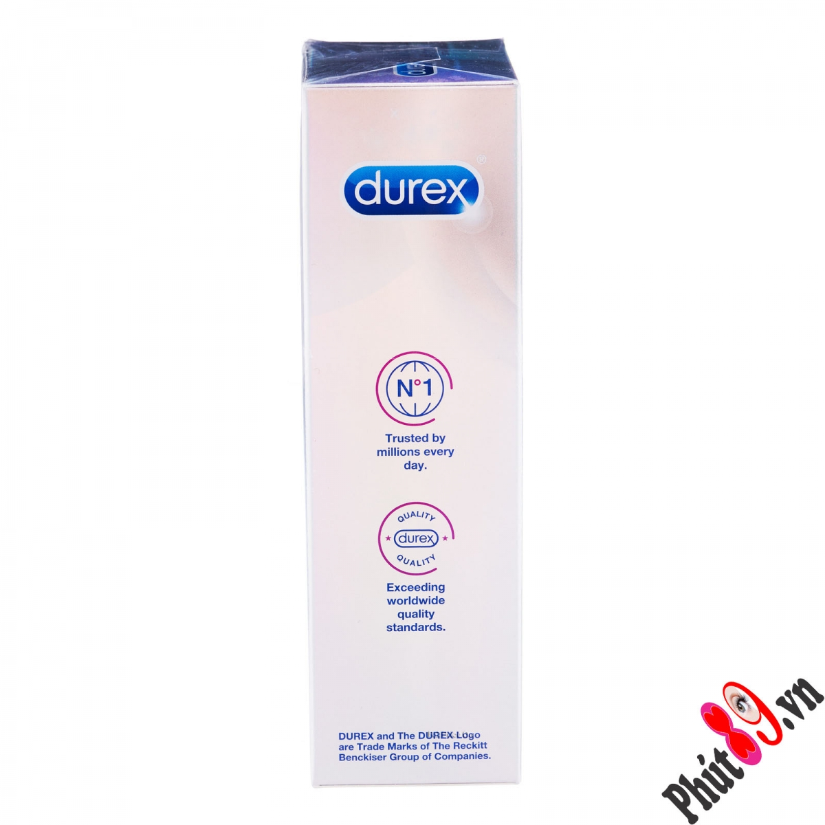 cạnh durex invisible extra lubricated